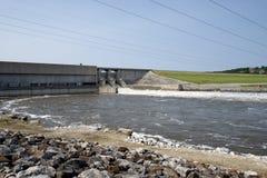 Truman湖水坝,洪水 免版税图库摄影