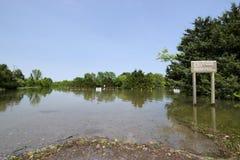 Truman湖洪水 免版税库存图片