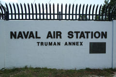 The Truman Annex Naval Air Station in Key West, Florida Stock Image
