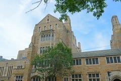 Trumbull szkoła wyższa, uniwersytet yale, CT, usa obraz royalty free