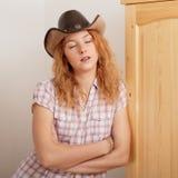 Träumen des Cowboymädchens Lizenzfreie Stockbilder