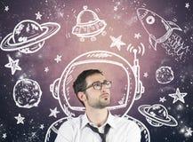 Träumen des Geschäftsmannes Lizenzfreie Stockfotos