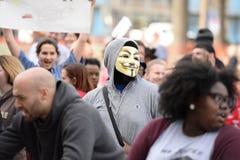 Trumfpersoner som protesterar i Saint Louis Arkivbilder
