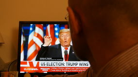 Trumfpresidentbreaking news stock video