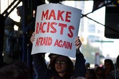 Trumfprotester Royaltyfri Fotografi