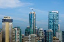 Trumftorn i i stadens centrum Vancouver, British Columbia Royaltyfria Bilder