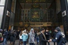 Trumftorningång i NYC Arkivfoton