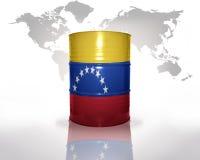 Trumma med den venezuelan flaggan royaltyfri illustrationer
