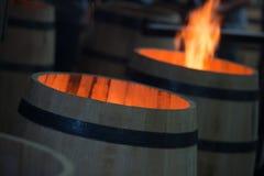Trummadanande i Bordeaux Wineyard Arkivbild