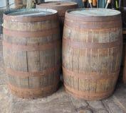 Trummafat för vin eller öl arkivbilder