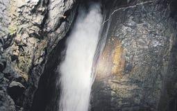 Trummelbach-Fälle von Lauterbrunnen in Bern-Bezirk in der Schweiz Lizenzfreie Stockbilder