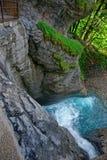Trummelbach-Fall von Lauterbrunnen in Bern-Bezirk in der Schweiz Lizenzfreie Stockbilder