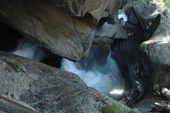 Trummelbach vattenfall Arkivbilder