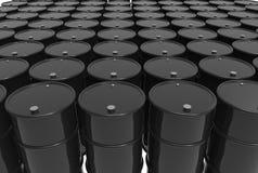 Trummor av olja Fotografering för Bildbyråer