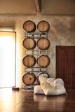 Trummor av vin och socker Arkivbilder