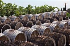 Trummor av wine Arkivbild