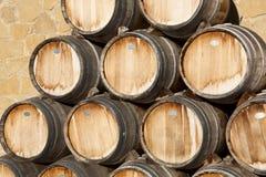Trummor av wine, Samaniego Arkivfoton