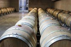 Trummor för vinlagring Royaltyfri Fotografi