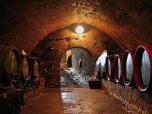 Trummor i en vinkällare Royaltyfri Fotografi