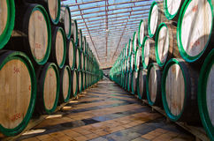 Trummor med wine Fotografering för Bildbyråer