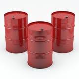 trummor oil red Royaltyfri Bild