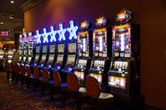 Trump Atlantic City Slot Machines Stock Photos