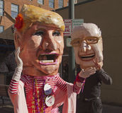 Trump and Bernie Hit the Mardi Gras Campaign Trail Royalty Free Stock Photo