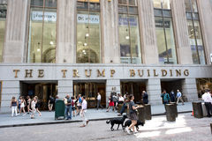 The Trump Building. New York, NY: August 27, 2016: The Trump Building on Wall Street. In 1995, President-elect Donald Trump bought the building that is now known Stock Image
