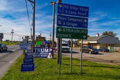 Trump Campaign Signs along Roadside Stock Images