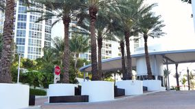 Trump Grande Sunny Isles Beach FL. SUNNY ISLES BEACH - FEBRUARY 24: Video of the Trump Grande Ocean Resort & Residences located at 18101 Collins Ave, Sunny Isles stock footage