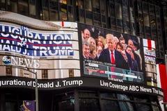 Trump Inauguration Big Screen Stock Images