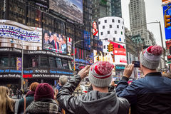 Trump Inauguration Times Square Stock Images
