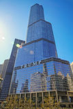 Trump International Hotel and Tower. CHICAGO, IL, USA - April 15 2016: Trump International Hotel and Tower, a skyscraper condo hotel located in downtown Chicago Stock Image