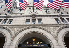 Trump International Hotel in Washington DC. Washington, DC. Oct. 6, 2016 : Donald Trump International Hotel built in the old Pennsylvania,Ave Post Office Stock Image