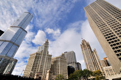 Trump International Hotel, Wrigley Clock Tower and Tribune building, Chicago Royalty Free Stock Images