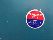 Trump Make America Great Again, Election Sticker Stock Photo