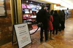 Trump Pence Store. An official store of Donald Trump and Mike Pence, the President and Vice President of the United States, in Trump Tower, New York City Royalty Free Stock Photo