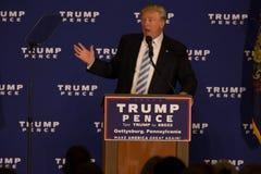 Trump porta la battaglia a Gettysburg immagine stock libera da diritti