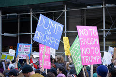 Trump Protests royalty free stock photo