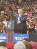 Trump rally. President Trump at rally stock image