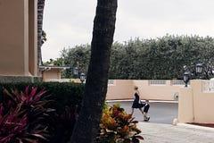 Trump`s Florida Retreat. Florida,USA - April 7th,2017:Mar-a-Lago is Donald Trump`s Palm Beach retreat.President Trump uses his Florida estate Mar-a-Lago as a stock photography