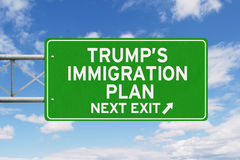 Trump`s plan on signpost under clear sky Royalty Free Stock Image