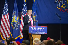 Trump Speaks to Rally Crowd Royalty Free Stock Photography
