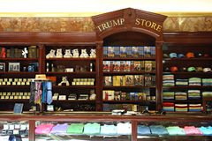 Trump Store. Books by billionaire Donald Trump and other souvenirs are sold at Trump Tower, in Manhattan stock images