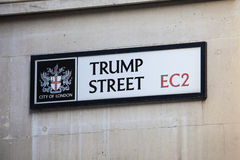Trump Street in the City of London Stock Photography