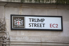 Trump Street in the City of London Royalty Free Stock Image