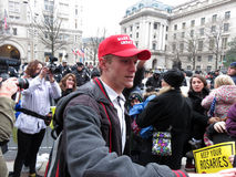 Trump Supporter at the Inaugural Parade Royalty Free Stock Images