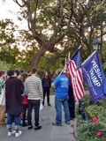 Trump Supporters, Washington Square Park, NYC, NY, USA Royalty Free Stock Photos