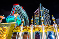 Trump Taj Mahal at night in Atlantic City, New Jersey. Royalty Free Stock Image