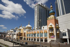 Trump Taj Mahal sul sentiero costiero di Atlantic City Immagine Stock